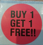 Label Format 6 - Buy One Get One Free